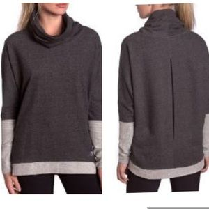 MPG Recovery Funnel Neck Pullover Top Sz XL
